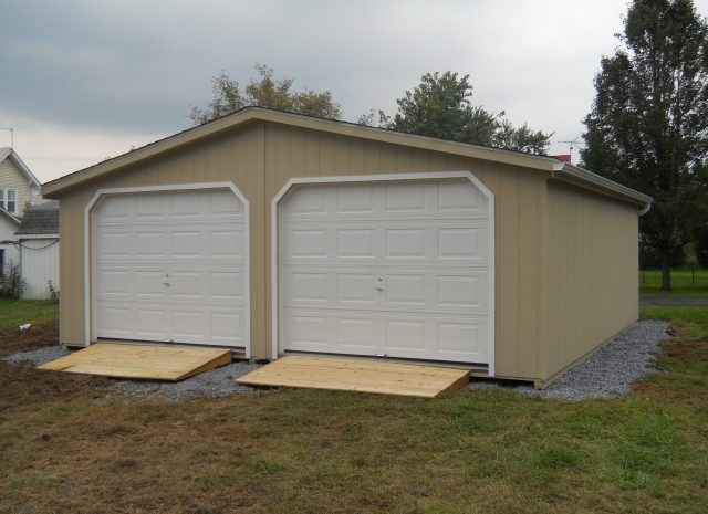 custom 3 pitch double wide garage
