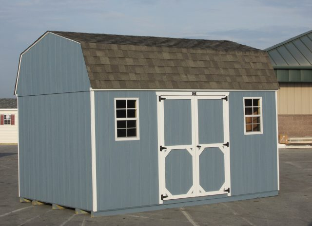 blue hywall storage shed