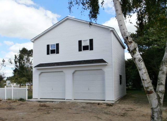 detached 2 car garage with second floor loft
