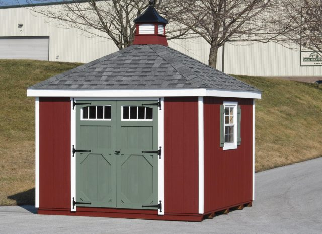 small classic hip roof garden shed