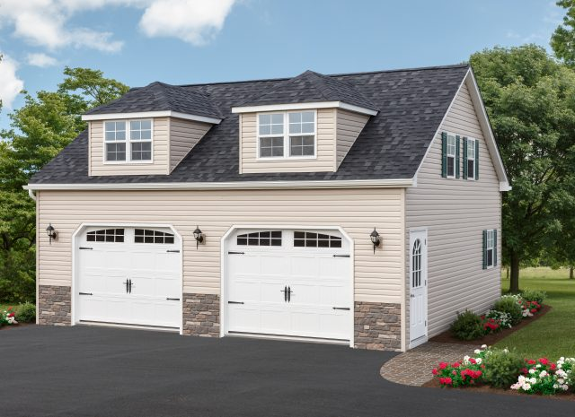 premium 2 car garage with apartment