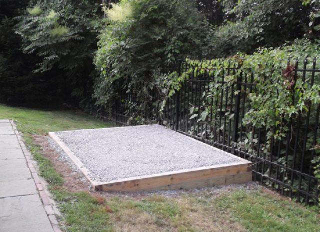 gravel installation pad