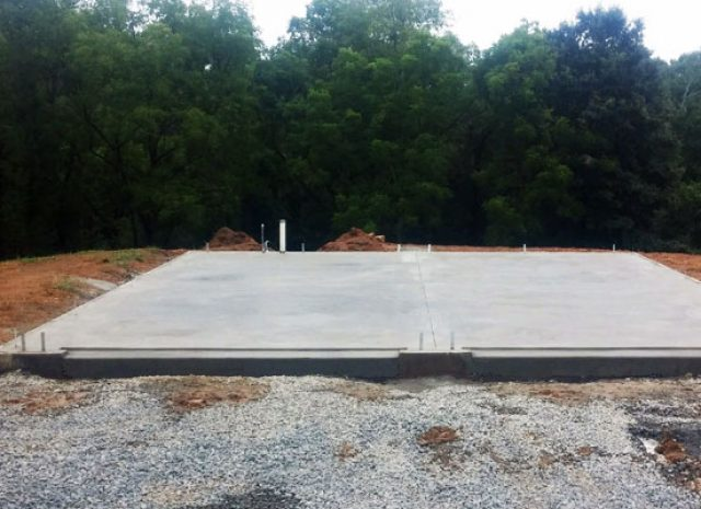 concrete shed installation pad