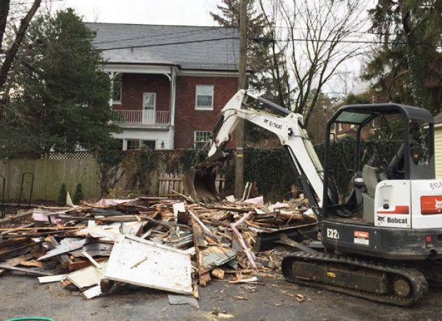 old shed demolation
